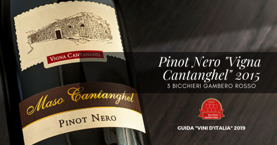 Pinot Nero Vigna Cantanghel 2015: 3 Bicchieri Gambero Rosso